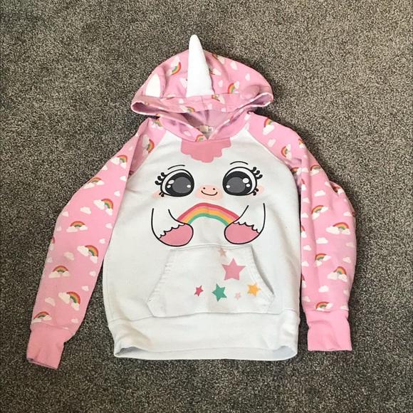 Girls Unicorn Hoodie 10-12